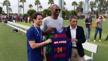 Kobe Bryant, presente durante entrenamiento del Barcelona en LA