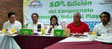 En Coatzacoalcos se realizará la décima edición del campeonato estatal de voleibol de playa