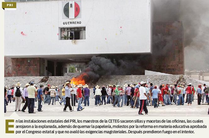 Incendian Guerrero; destruyen sedes locales de partidos políticos