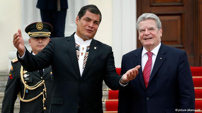 Correa argumenta en Alemania contra TLC con la UE
