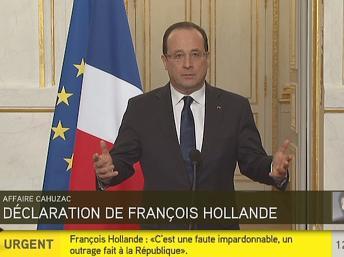 Hollande, presidente francés, promete ejemplaridad tras escándalo por desvío de recursos