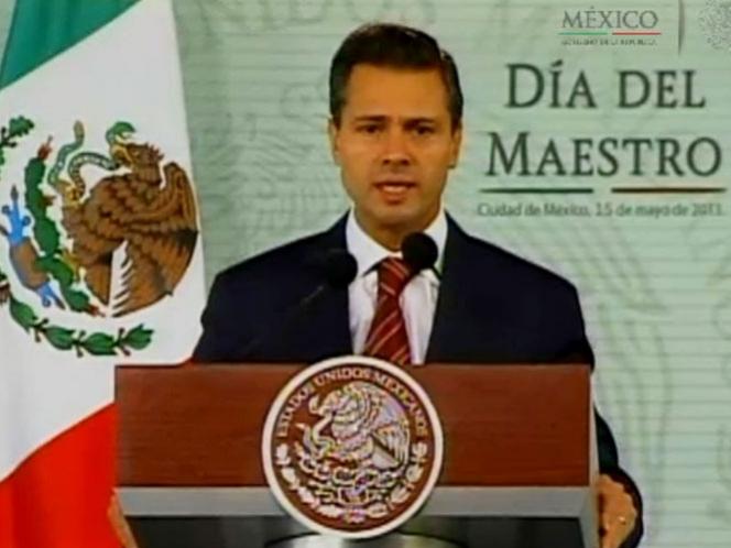 La educación no se privatiza ni se concesiona: Peña Nieto