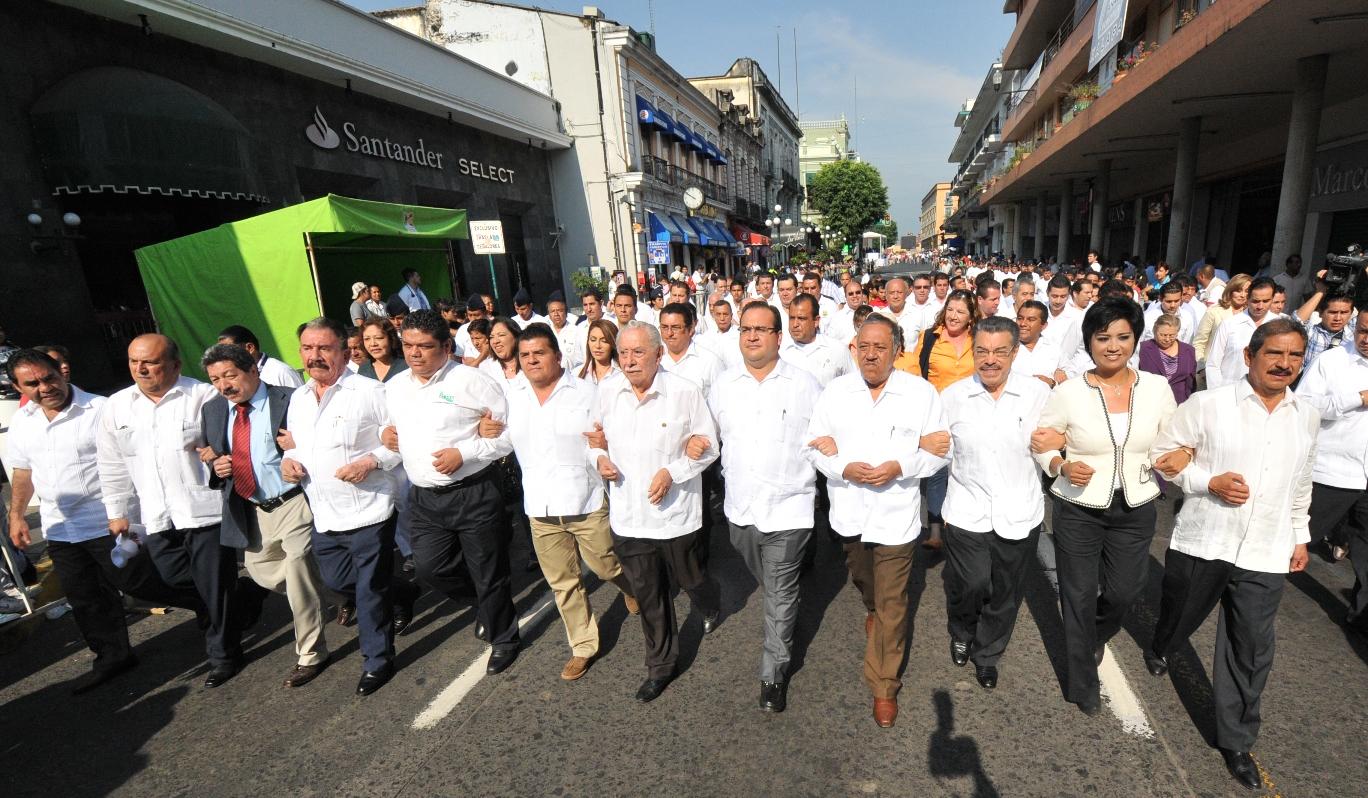 Reconocen sindicatos y organizaciones obreras estabilidad y avances de Veracruz en materia laboral