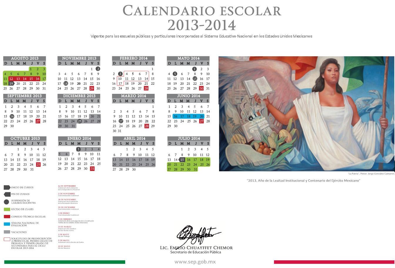 Aprueban Calendario Escolar 2013-2014