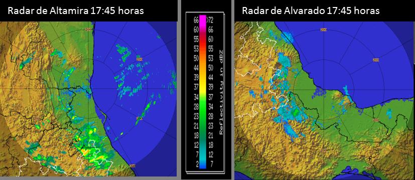 Potencial de lluvias en las zonas norte y parte alta de la cuenca del río Papaloapan en las siguiente horas