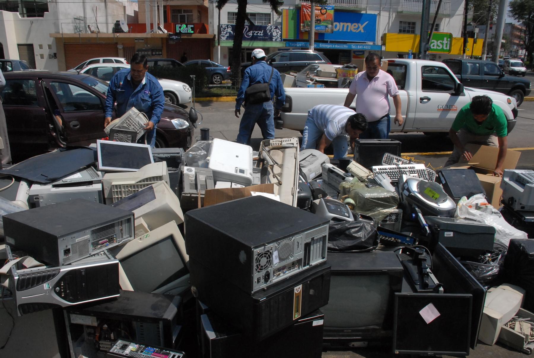 Realizan el sexto reciclón de desechos electrónicos en Veracruz