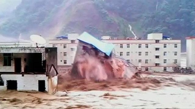 Alud en China sepulta a 40 personas; inundaciones afectan a miles