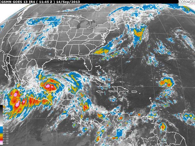 Ciclones tropicales afectarán a gran parte del país