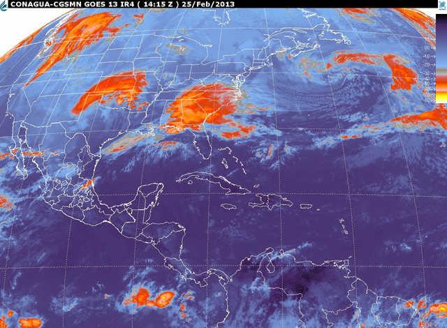 El Servicio Meteorológico Nacional dio a conocer que para la temporada 2013-2014 se pronostican entre 52 y 64 frentes fríos