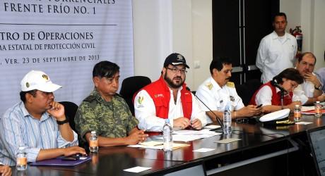 Se repondrá toda la infraestructura dañada por fuertes lluvias: Javier Duarte