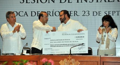 Se activa en Veracruz Programa de Empleo Temporal en zonas afectadas por las lluvias