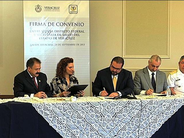 Secretarías de Salud de Veracruz y DF firman convenio para prevenir enfermedades crónico-degenerativas