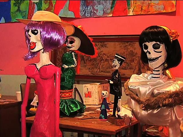Con teatro y plástica reciben la temporada de Día de muertos en Coatepec