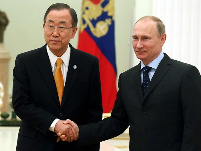 Ban Ki-moon expresa preocupación por situación en Ucrania y Rusia
