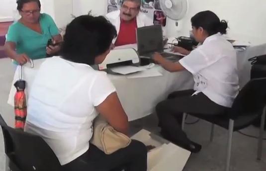 Lleva la Secretaria de Salud brigadas médicas a zonas alejadas de la Región Sur.