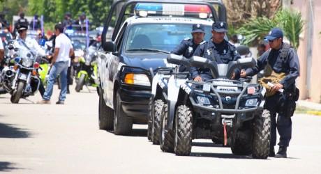 Entrega SSP patrullas a municipio de Tlacojalpan