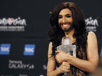 Regreso triunfal del travesti Conchita Wurst a Austria