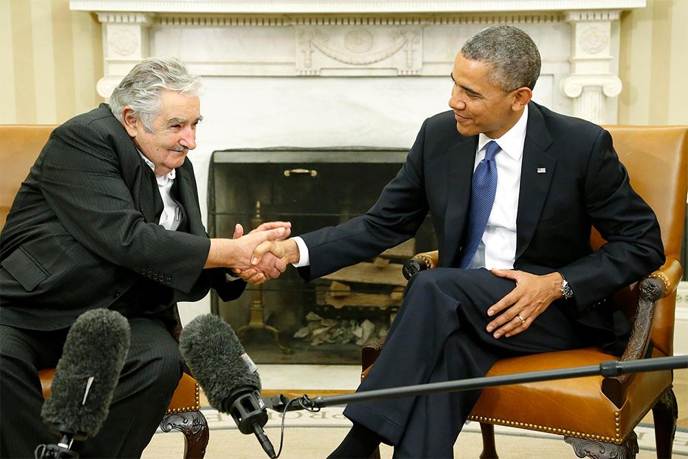 Barack Obama recibe a José Mujica en la Casa Blanca