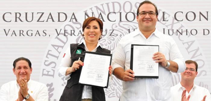 Con la Cruzada Nacional contra el Hambre y Adelante, Veracruz se suma al desarrollo de México: Javier Duarte
