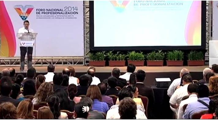 Celebran en Boca del Río el Foro Nacional de Profesionalización 2014