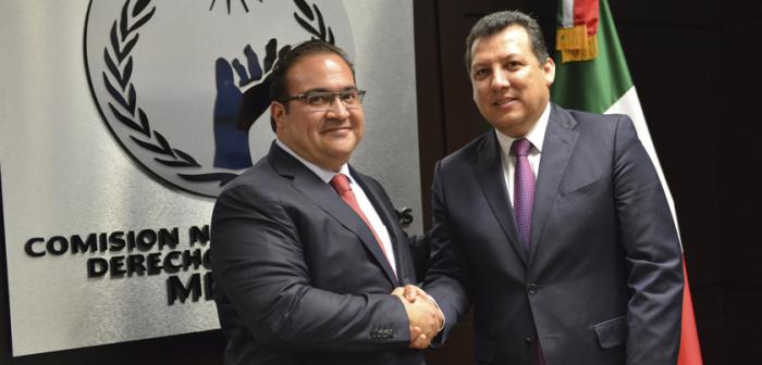 Se reúne el gobernador Javier Duarte con el Presidente de la CNDH