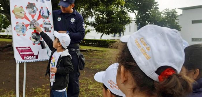 Imparte Policía Estatal taller de primeros auxilios a niños y niñas