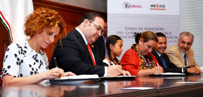 El Gobierno de Veracruz  se une a iniciativa de la Unicef para proteger a los niños