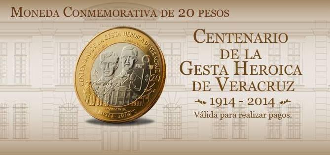 Banco de México pone en circulación la moneda conmemorativa por el centenario de la gesta heroica de Veracruz