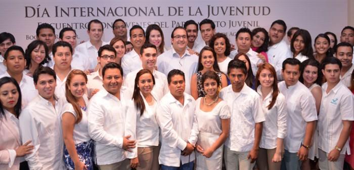 Los jóvenes, energía y ánimo que genera ideas, desarrollo y progreso: Javier Duarte