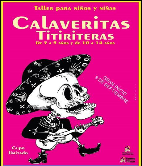 Taller Calaveritas Titiriteras en el Rincón de los Títeres de Xalapa