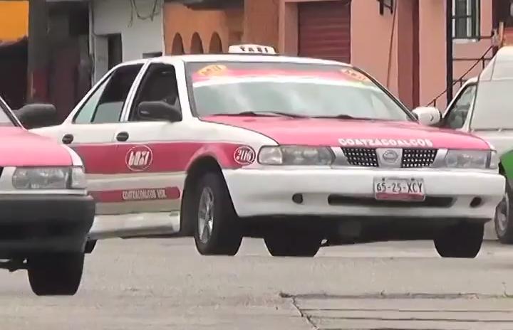 Reducen casos asaltos a taxistas de Coatzacoalcos.
