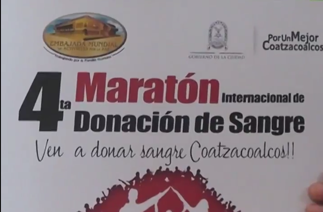 Se realizara el cuarto maratón de donación de sangre voluntaria en Coatzacoalcos.