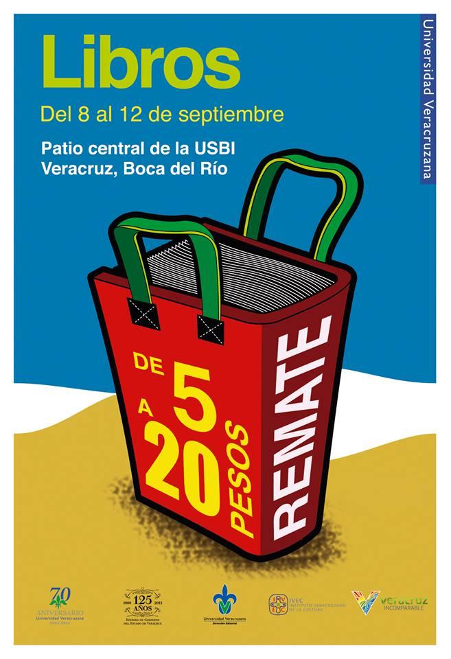 Libros desde 5 pesos en la Semana UV de la Lectura en Boca del Río