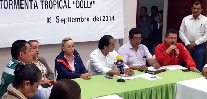 Sin reporte de daños mayores por tormenta Dolly en Veracruz: PC