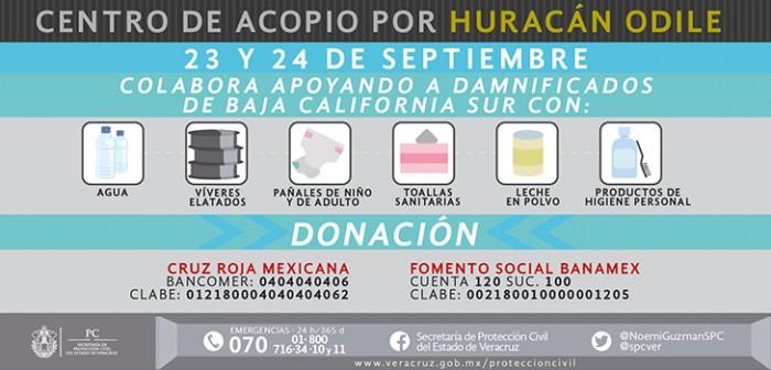 Se suma PC a campaña de apoyo del DIF estatal a Baja California Sur