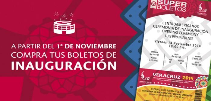 01 de noviembre inicia venta de boletos para ceremonia de inauguración de los JCC