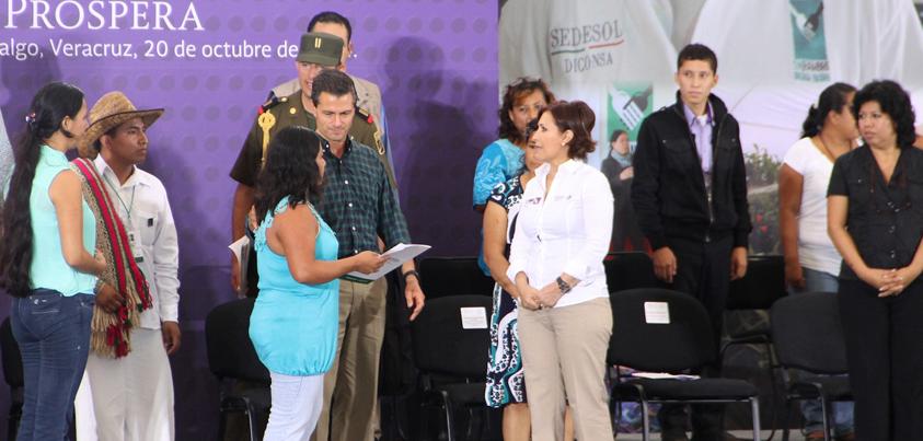 Prospera, con más de 700 familias beneficiarias en Veracruz