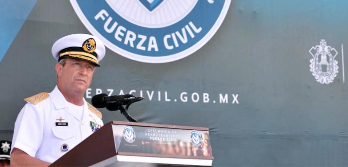 Reconoce Secretario de Marina la Fuerza Civil, un cuerpo de seguridad profesional y confiable