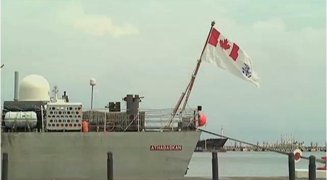 Arriba a Veracruz buque de la Marina Real Canadiense
