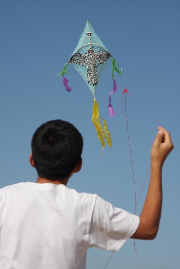 Habitantes de Tecolutla rescatan tradición de elevar papalotes