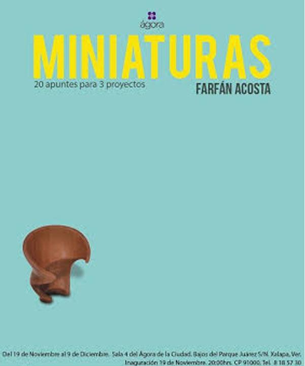 Miniaturas de piedra y madera en el Ágora de la Ciudad