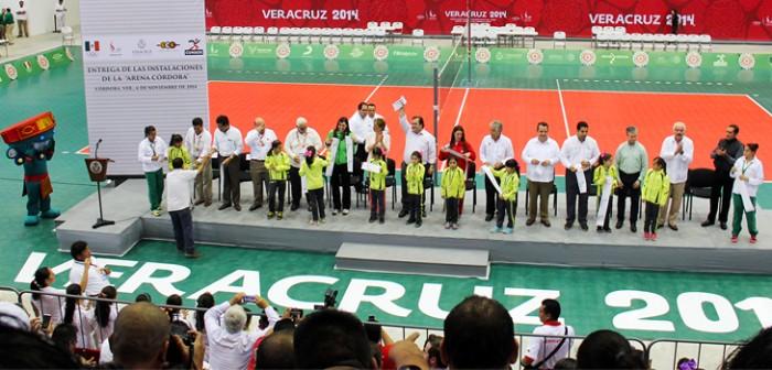 Entrega Javier Duarte Arena Córdoba, subsede de los JCC Veracruz 2014