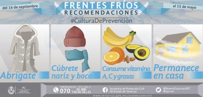 Masa polar del Frente Frío 14 cubre a Veracruz, hay posibilidad de heladas: PC
