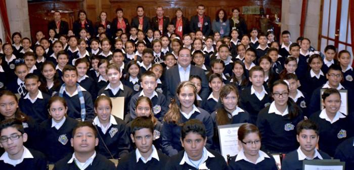 Inician niños embajadores de Veracruz recorrido por la Ruta de la Insurgencia
