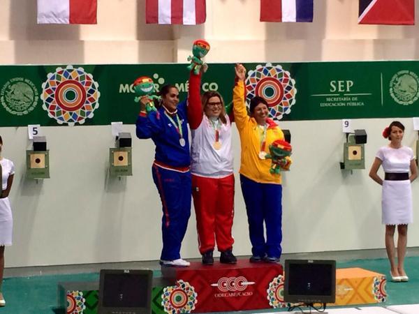 Consigue México oro y plata en tiro de 10 metros femenil