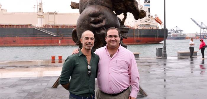 Inaugura gobernador Javier Duarte exposición escultórica del artista Javier Marín