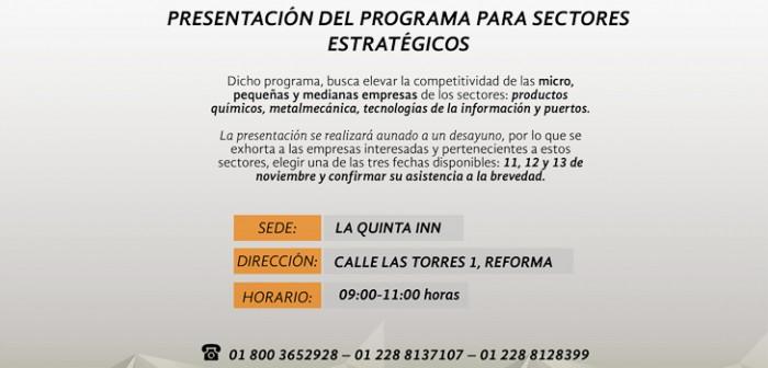 Invita Sedecop a empresarios de la zona norte a participar en el Programa para Sectores Estratégicos