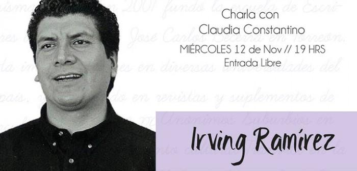 Conversará Irving Ramírez en el ciclo Palabra de Autor