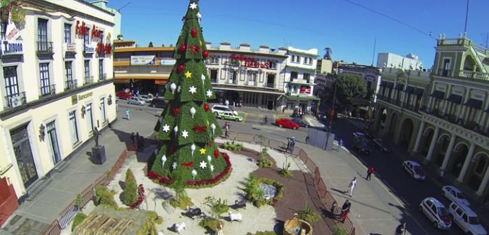 Todo listo para encender el pino navideño en Xalapa: SEV