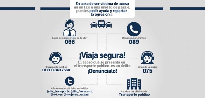 Inician campaña informativa en redes sociales para atender acoso en el transporte público